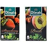 Dilmah Peach Flavoured Tea , 50g & Dilmah Strawberry Flavoured Tea, 50g