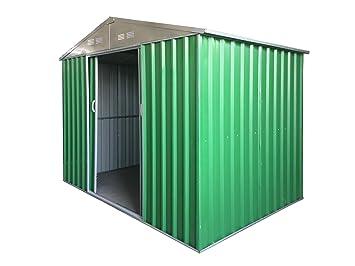 Caseta de jardín puerta Herramientas de chapa galvanizada de 0,27 mm muy robusta de