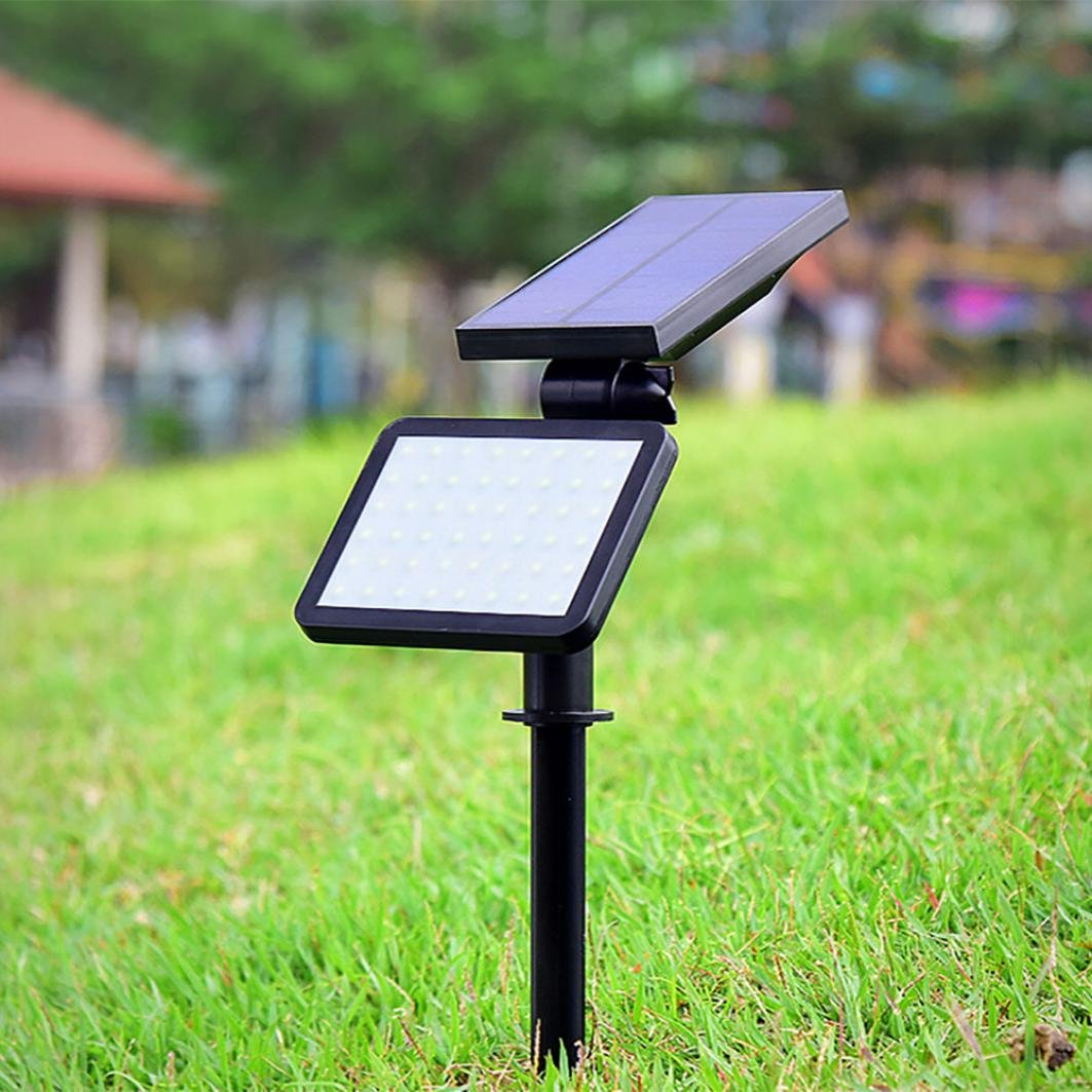 Coohole 48 LED Outdoor Solar Lights Spotlight Landscape Lighting Waterproof Wall Light for Night Security and Lawn Lamp Bright
