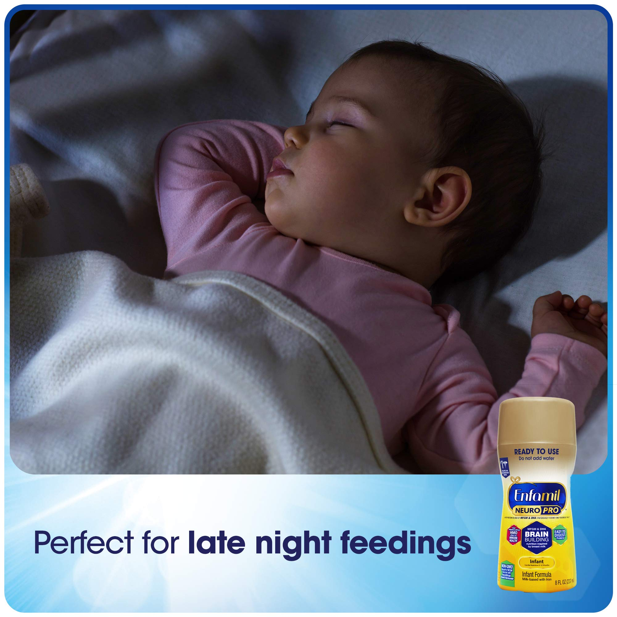 Enfamil NeuroPro Baby Formula Milk Powder, 20.7 Ounce (Pack of 6), Omega 3, Probiotics, Brain Support and Infant Formula - Ready to Use Liquid, 8 fl oz (24 count) Packaging May Vary by Enfamil (Image #8)