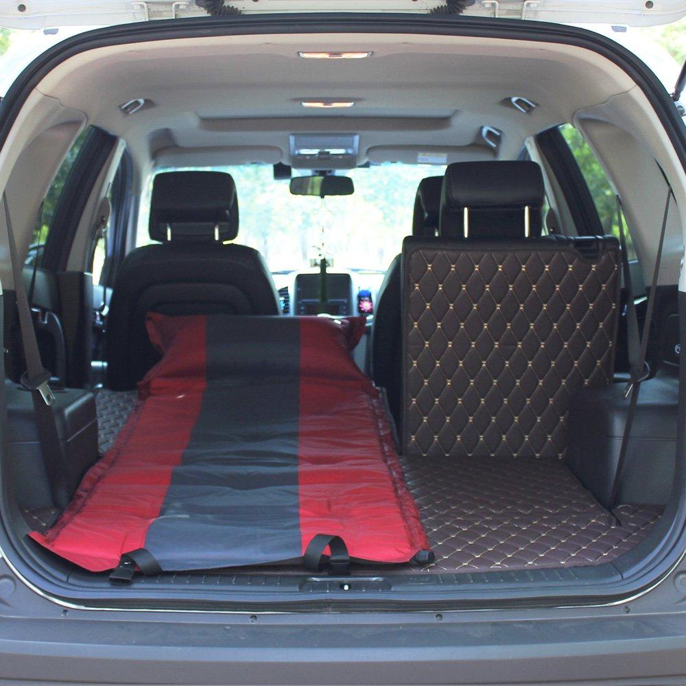 ASL Im Freien Einzelnes Doppeltes SUV Automatisches aufblasbares Matratze-Auto-Bett-aufblasbares Bett-Auto-Bett-Auto-Schlag-aufblasbares Kissen Qualität ( Farbe : Rot , größe : 19260CM )