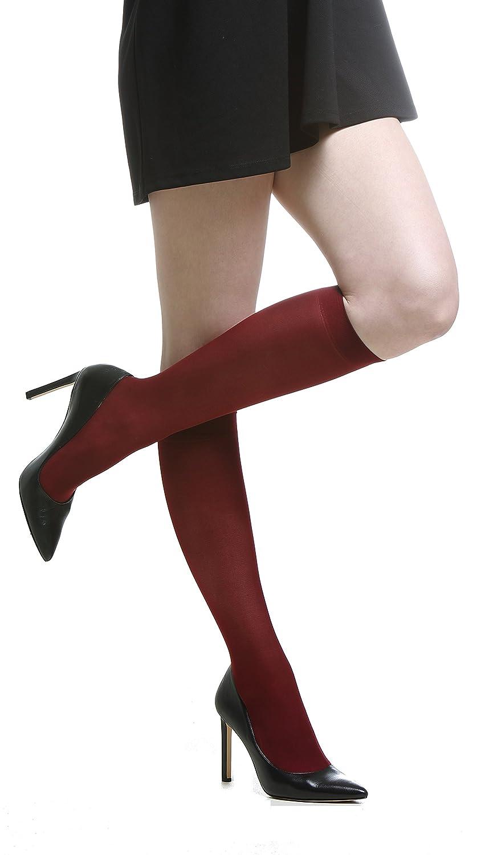 4 PACK Knee High Socks for Women//Girls 40 Denier fits UK 3-7 // EUR 36-41 Opaque Soft Nylon Stay Up Comfort Top Pop Socks Premium Quality Made in Europe