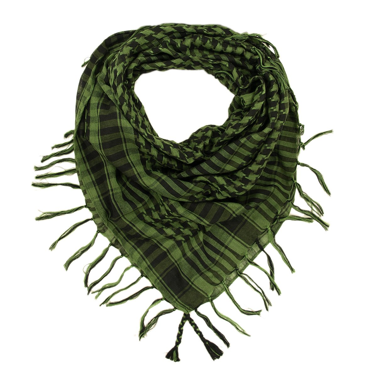 Kuldip Unisex Chequered Arab Arafat Shemagh Kafiyah Desert Style Scarf Throw SC81183B-Gray