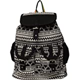 Roshiaaz Women's Stylish Canvas Backpack Bag Handbag With Beautiful Design, Red And Black