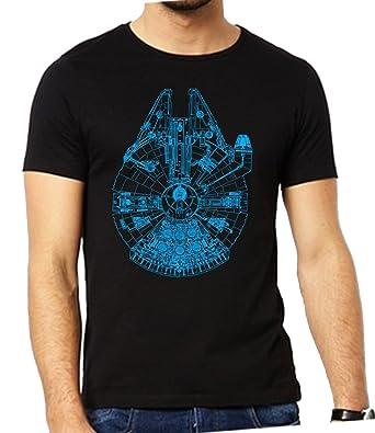 1d927c5a Millennium Falcon T Shirt - Men's Star Wars T-Shirt Black