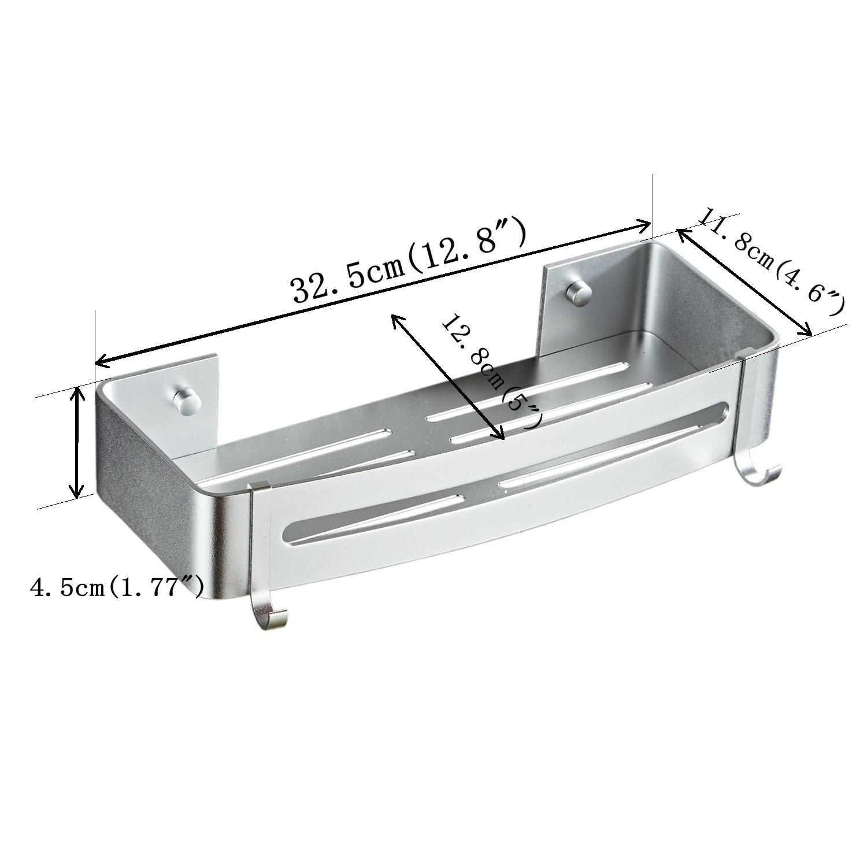Argento Spazio in Alluminio Kelelife Autoadesiva Mensola Doccia per Bagno Cucina