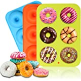 Silicone Donut Pan Molds, VECTOP 3 PCS Nonstick Donut Mold Trays Pans,Cake Biscuit Bagels, Donut Molds for Baking…