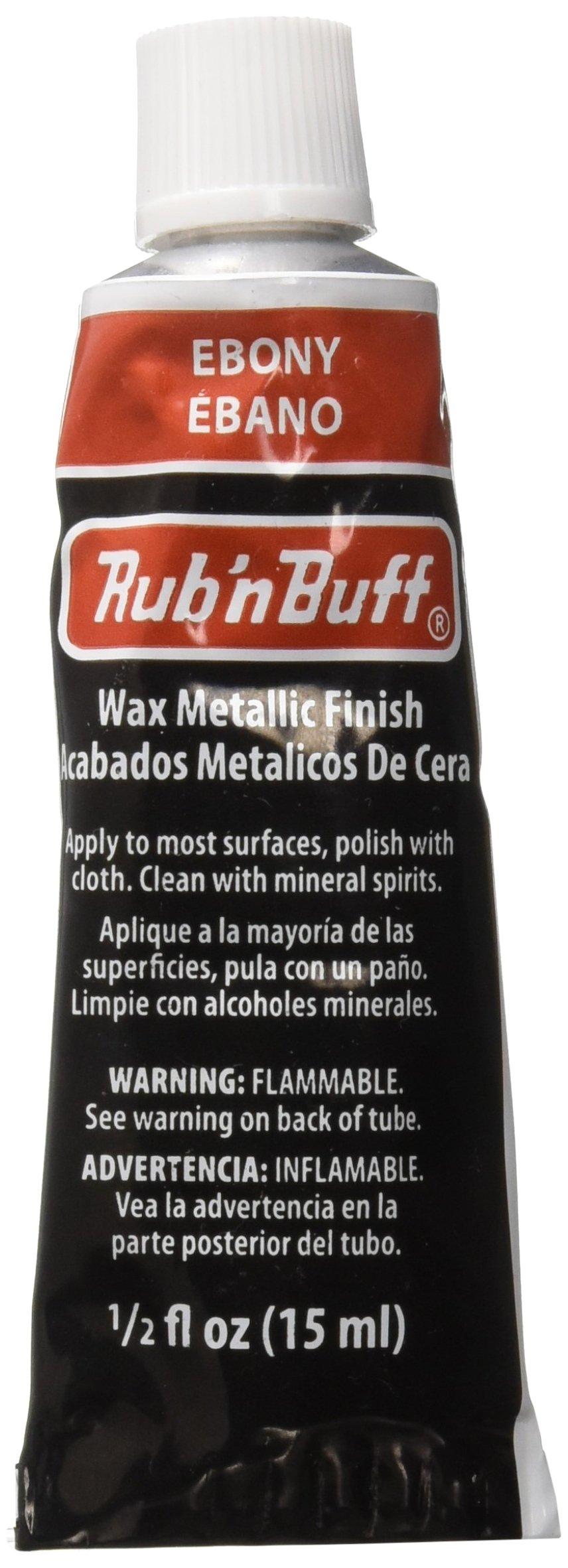 AMACO Rub 'n Buff Wax Metallic Finish, Ebony, 0.5-Fluid Ounce