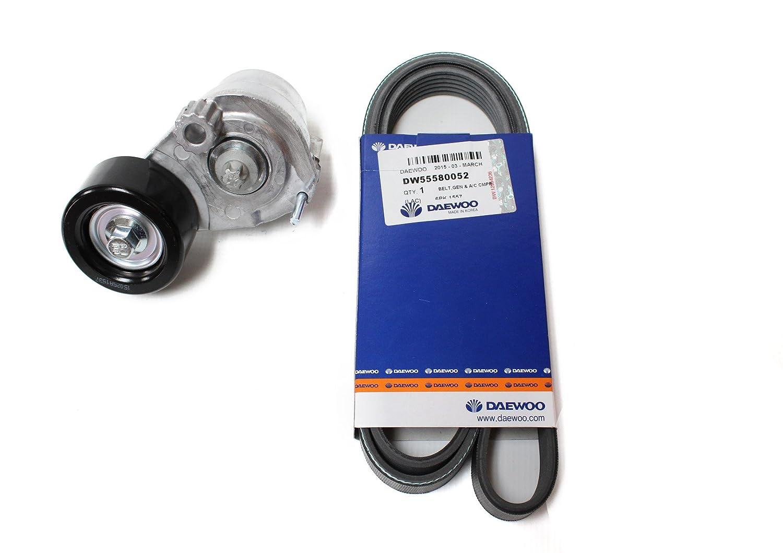 Amazon.com: V Belt for Chevy Chevrolet Cruze 6pk1557 with Belt Tensioner (Daewoo: 55563512) Parts: 55580052, 55563925, 55563927: Automotive