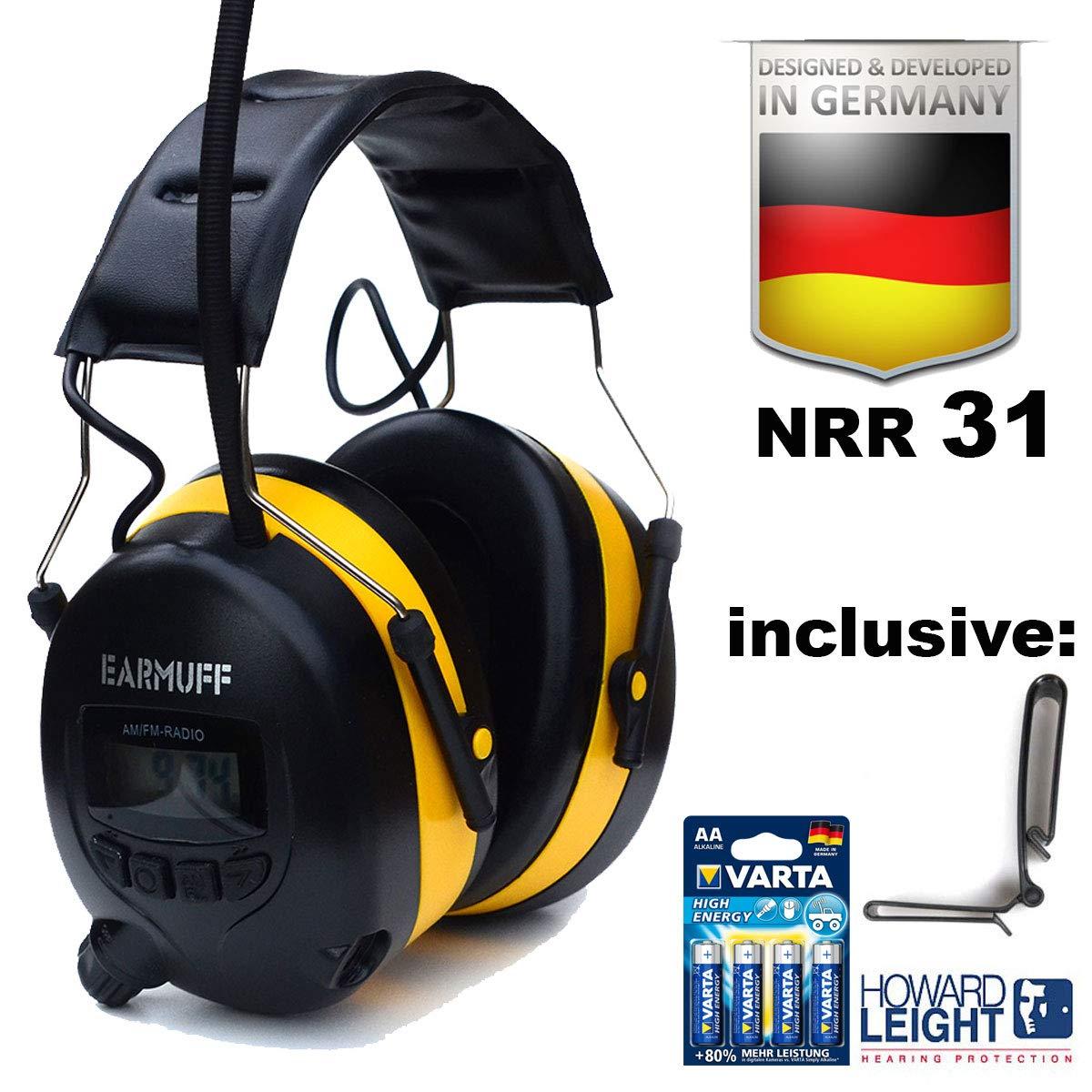 Orejeras de protección auditiva, de EARMUFF, con radio AM/FM ...