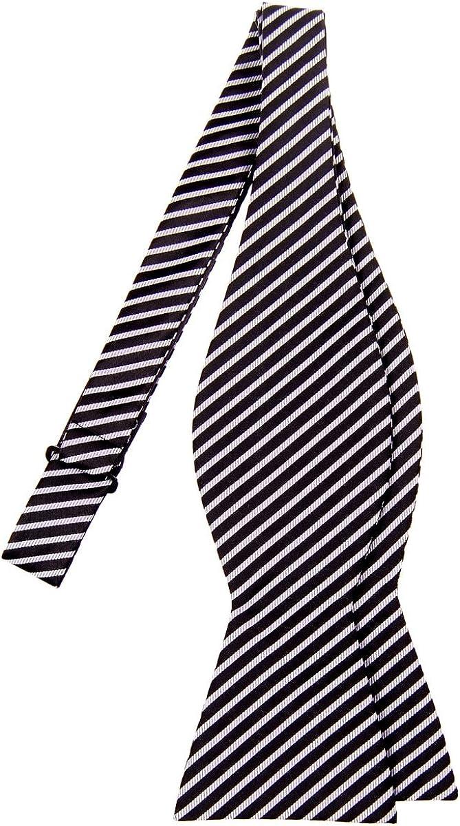 Retreez Modern Stripe Woven Microfiber Self Tie Bow Tie Various Colors