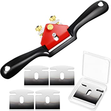 1 PCS Adjustable SpokeShave with Flat Base and Metal Blade Wood Working Craft Craver Hand Tool