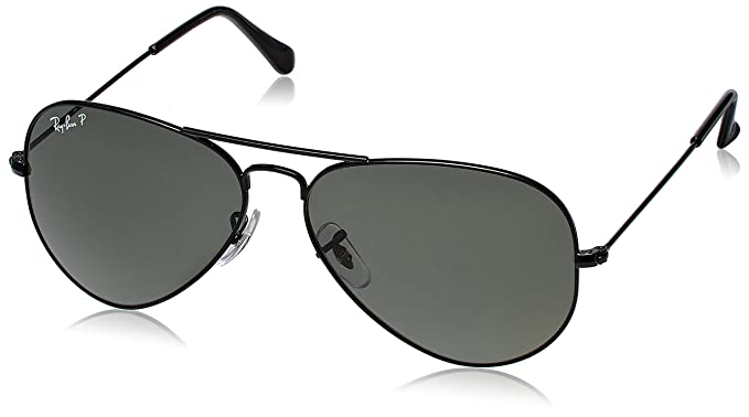 e15c4963e17b4e Image Unavailable. Image not available for. Colour  Rayban Standard Aviator  unisex Sunglasses (RB3025 58 millimeters Dark Grey)