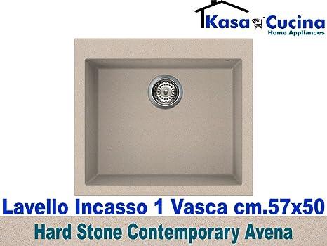 lavello incasso cucina hard stone contemporary fragranite 1 vascavascone cm57x50 avena