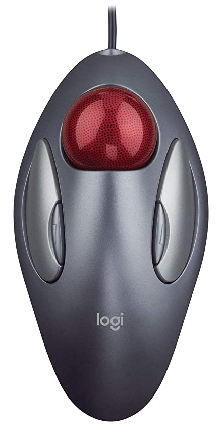 8f08d6b3c1f Logitech Trackman Marble Trackball Mouse - Wired USB Ergonomic Mouse for  Computers, with 4 Programmable