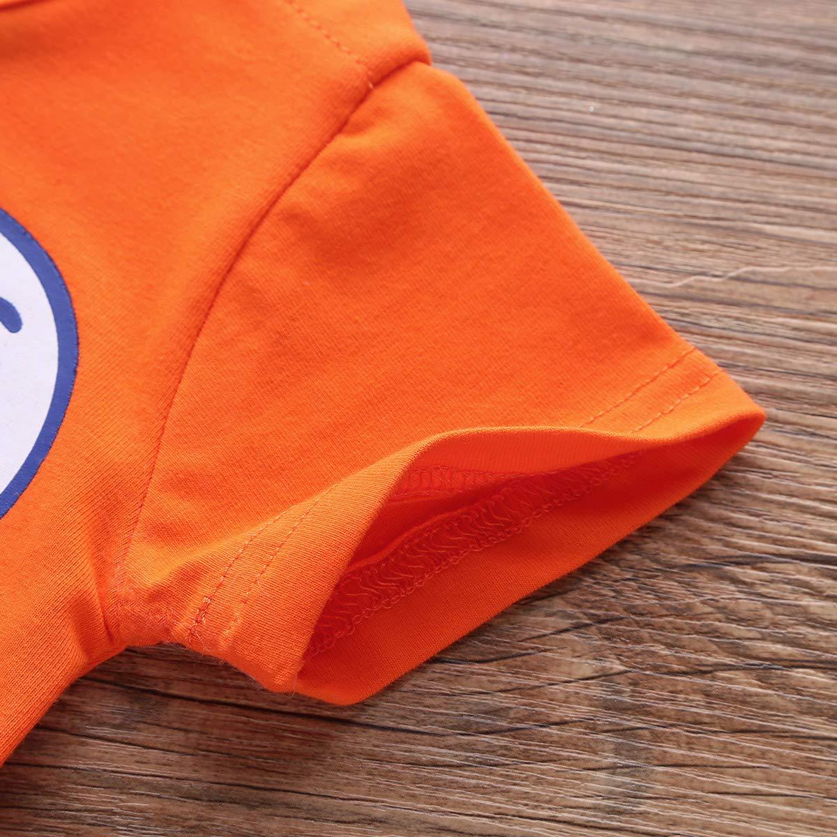 Agoky Unisex Baby Strampler M/ädchen Jungen Kurzarm Body Cartoon T-Shirt Overall Spielanzug Halloween Kost/üm Faschingskost/üm Outfit 0-12 Monate