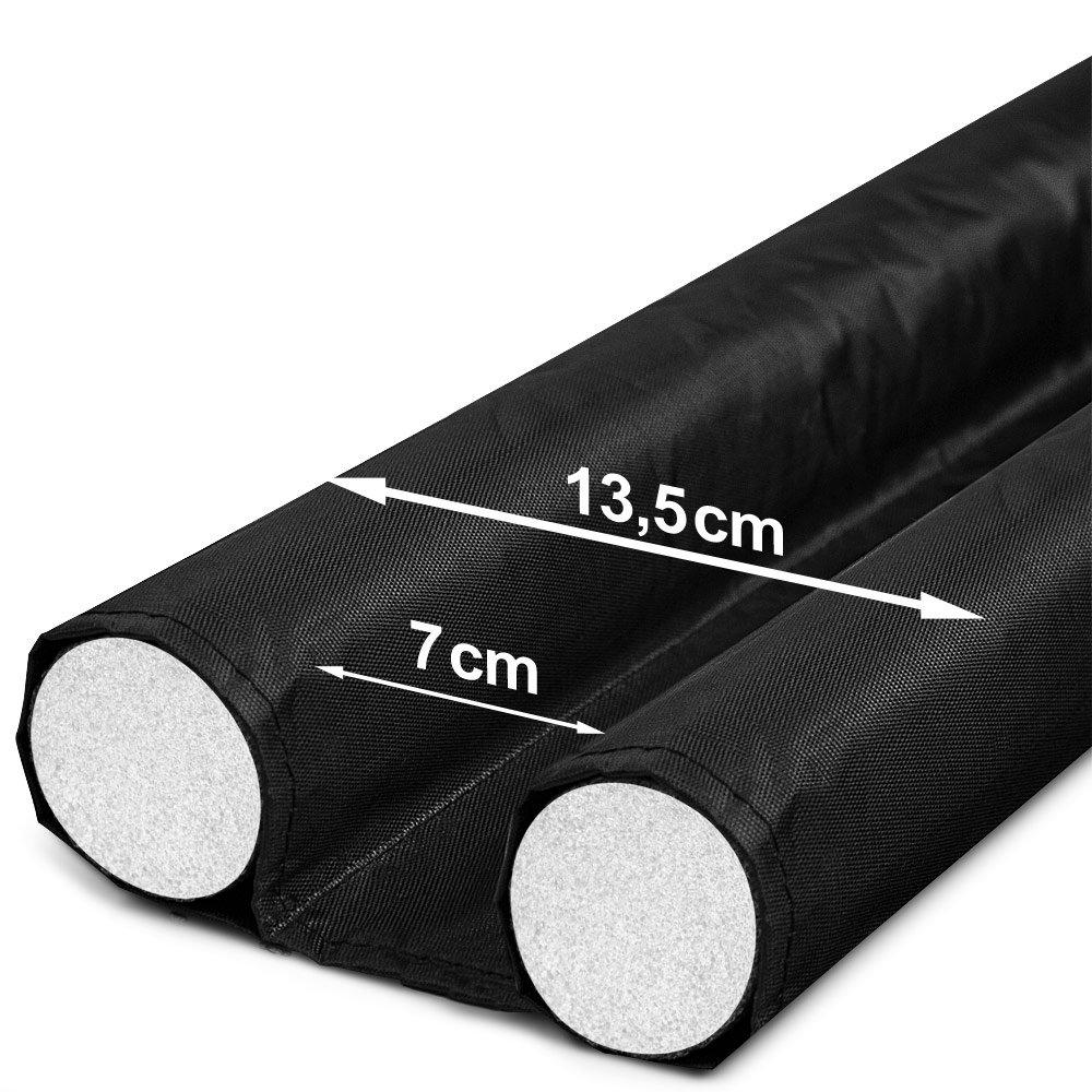 ... color negro 95 cm- Reducción de consumo energético y de calefacción, de corrientes de aire, polvo, suciedad, insectos, frío y humedad-: Amazon.es: Hogar