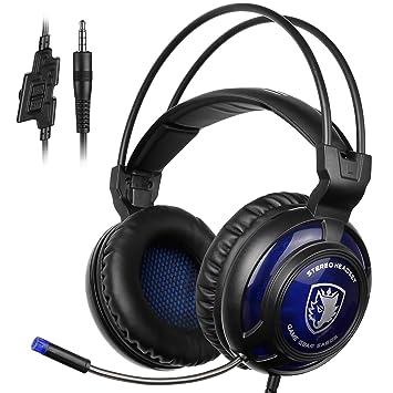 Cuffie Sades - modello SA 805 nero blu  Amazon.it  Strumenti musicali e DJ 0a2494ce663f