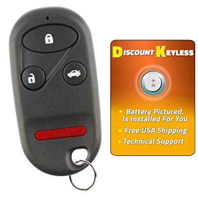 Discount Keyless Replacement Key Fob Car Entry Remote For Acura TL Honda Accord KOBUTAH2T: Automotive