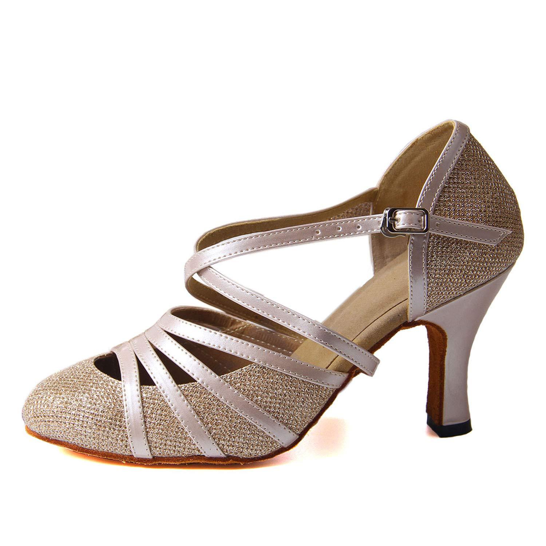 Syrads Chaussures de Danse Latine Femme Chaussures de Danse de Salon pour fête Sociale Sandales Salsa