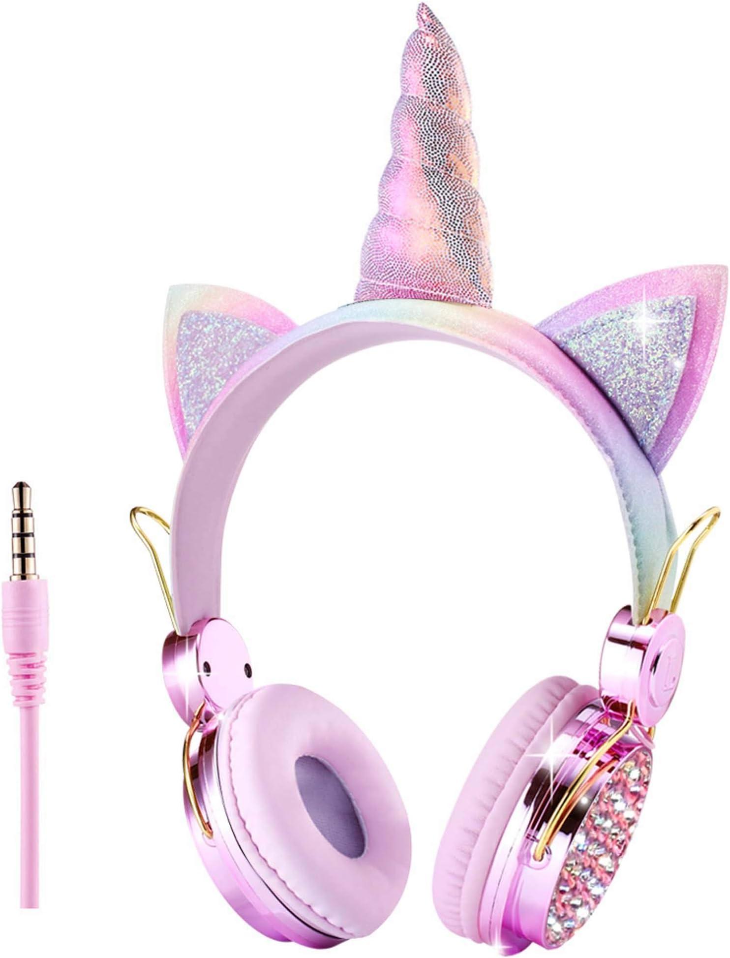 سعر سماعات رأس للأطفال بنات أذني القط 85 ديسيبل حجم الحد من حجم قابل للتعديل على الأذن أنيمي سلكية مع ميكروفون للمدرسة المنزل السفر الوردي يونيكورن Fb Ch0619 فى الامارات بواسطة امازون