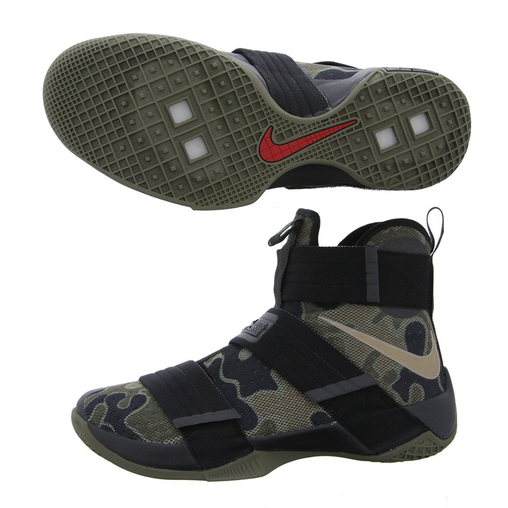 online store 2e22d e7a37 Nike Men s Lebron Soldier 10 SFG EP, CAMO-Black Bamboo-Medium Olive, 8 M  US  Amazon.ca  Shoes   Handbags