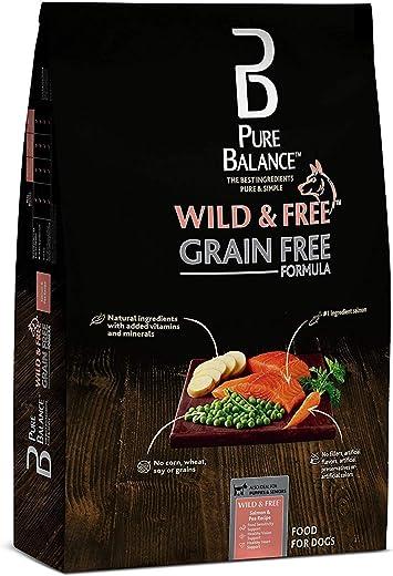 Pure Balance Grain Free Formula Salmon & Pea Dry Dog Food, 4 Lb (2 Packs)