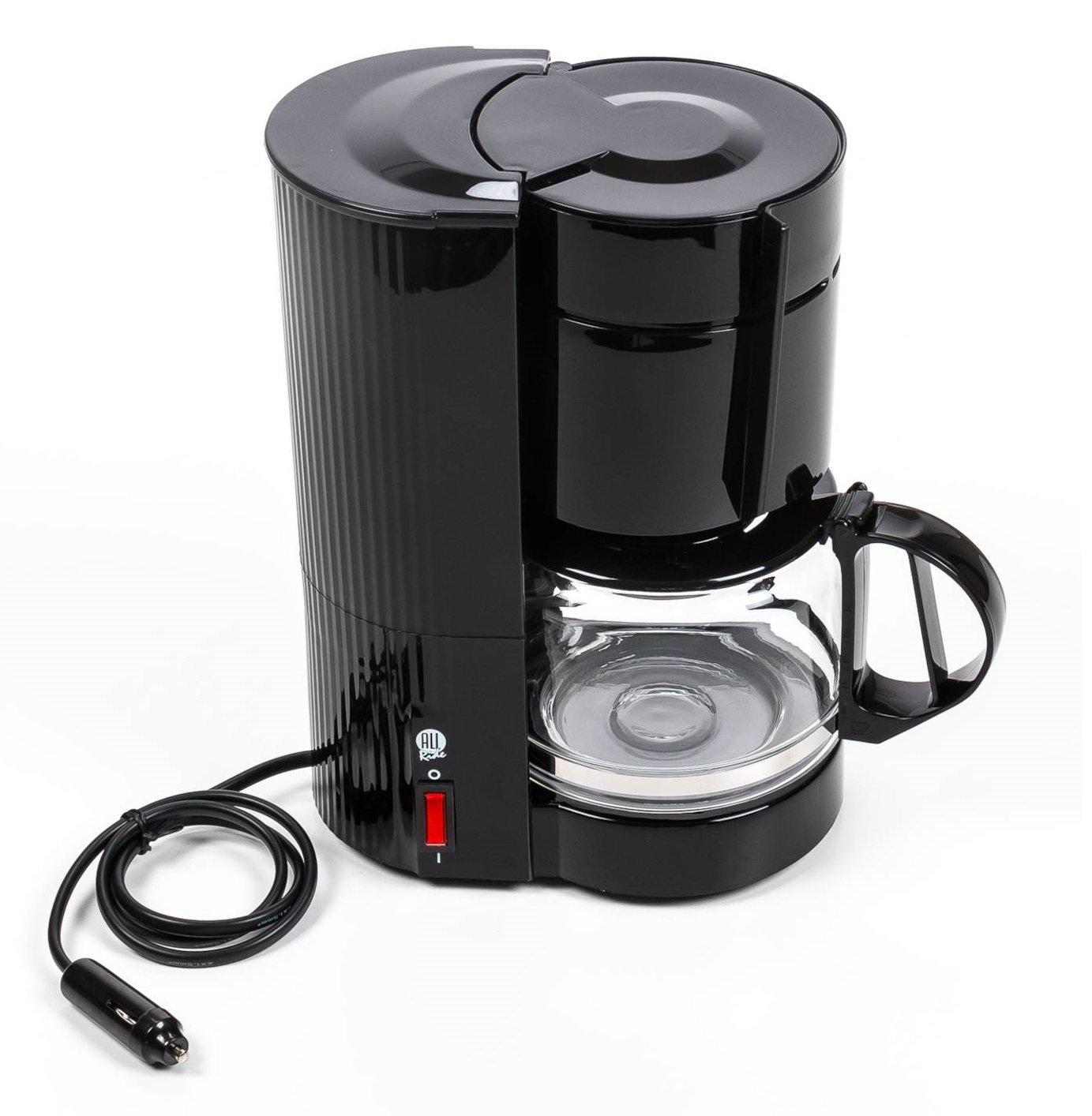Kaffeemaschine mit Glaskanne fü r 10-12 Tassen, Filterkaffeemaschine 24V 300W ALL Ride