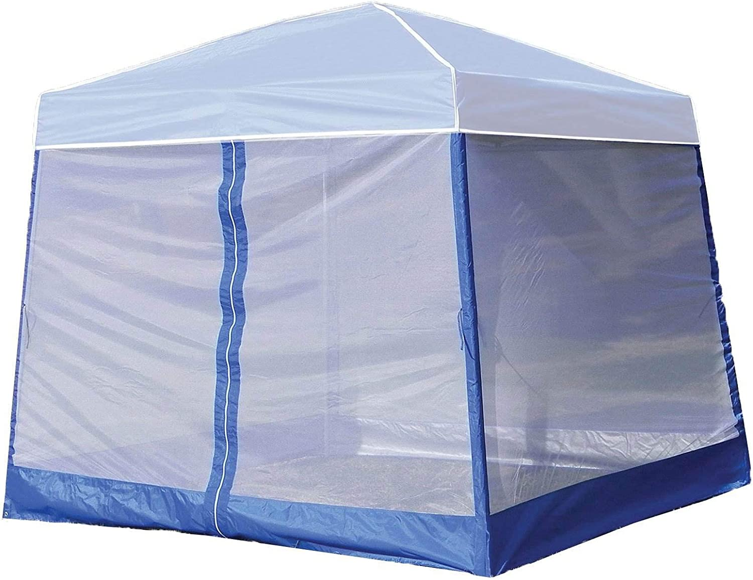 Z-Shade 10 Foot Angled Leg Screenroom Tent Camping Outdoor Patio Shelter, White (Canopy Not Included)