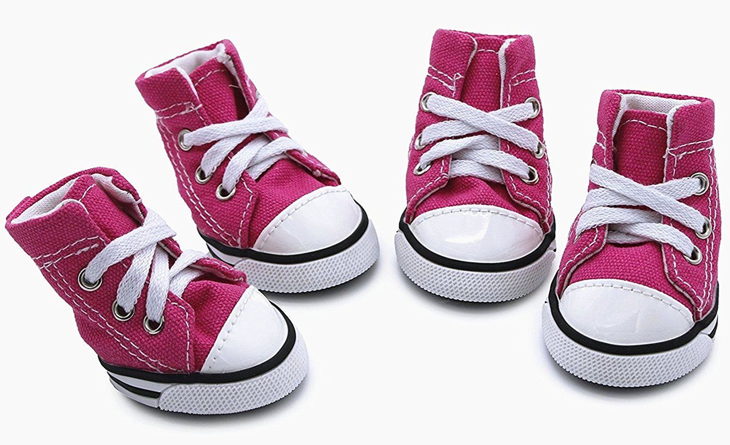 abcGoodefg Pet Dog Puppy Canvas Sport Shoes Sneaker Boots, Outdoor Nonslip Causal Shoes, Rubber Sole+Soft Cotton Inner Fabric (Pink, 2)