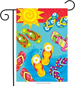 "Briarwood Lane Fun in The Sun Flip Flops Summer Garden Flag Nautical 12.5"" x 18"""