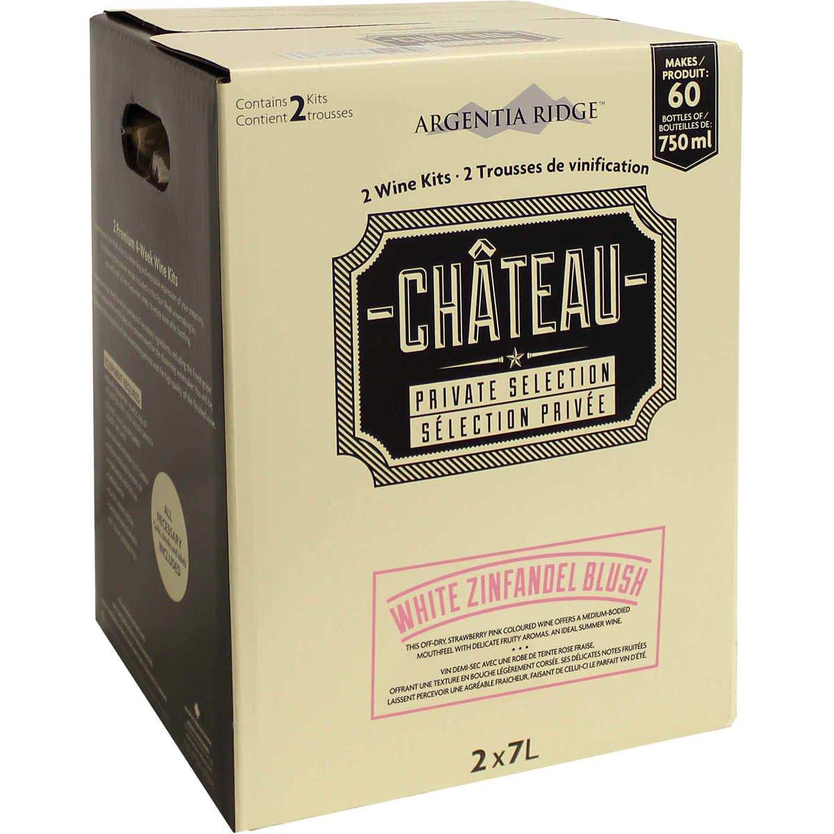 Argentia Ridge Château Private Selection Wine Kit (White Zinfandel)