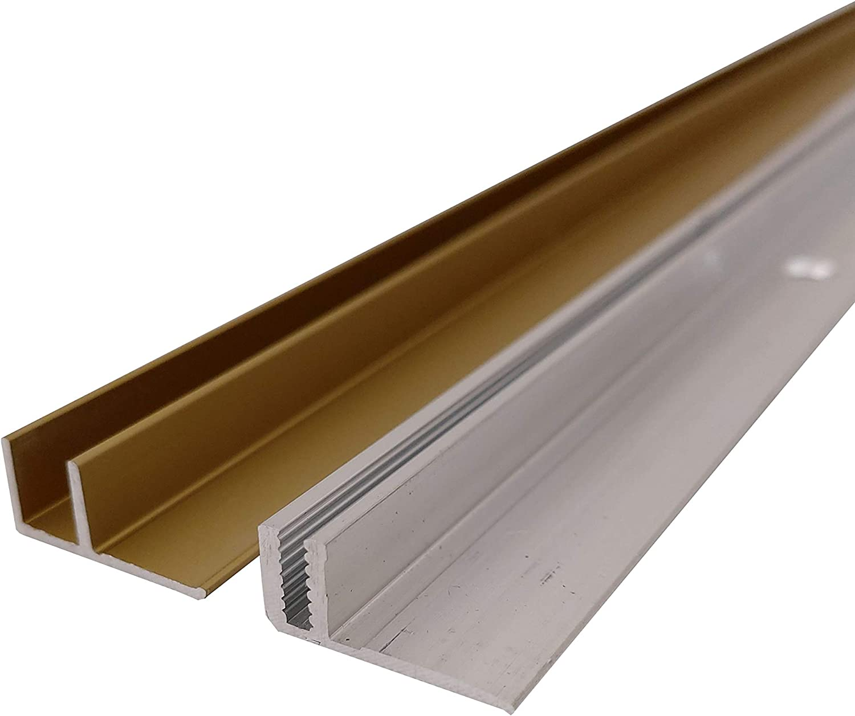 Dehnungsfugenprofil - L/änge: 90 cm, Bronze Hell ALU eloxiert ufitec/® Profi Smart Profilsystem f/ür Vinylb/öden Bronze Hell - geeignet f/ür Belagsh/öhen von 5-9 mm