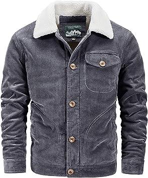 メンズコート・ジャケット-メンズプラスサイズプラスベルベット厚コーデュロイジャケット