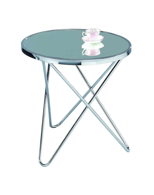 ASPECT Porto Round Side End Coffee Table, Copper/Black, 45 x 45 x 50 cm STB40/BK