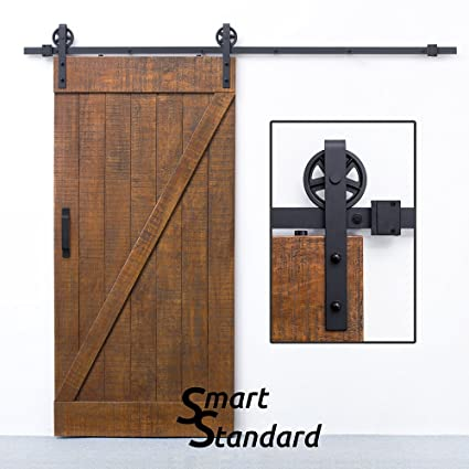 Amazon 8ft Heavy Duty Sliding Barn Door Hardware Kit Big
