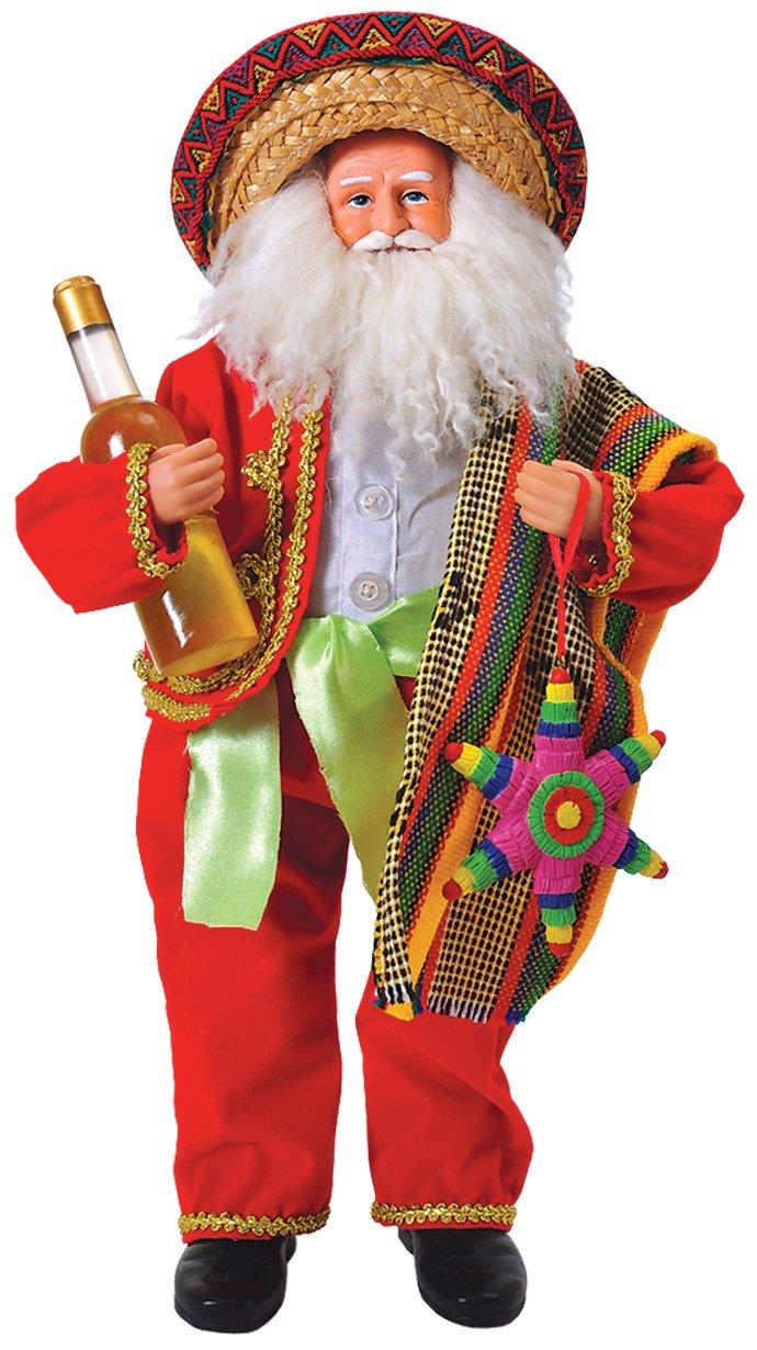 Santa's Workshop 9310 Mexican Santa Figurine, 18'' ,,