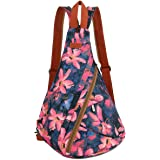 BAOSHA Women's Colorful Sling Bag Crossbody Backpack Shoulder Casual Daypack Outdoor Travel Hiking XB-10