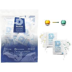 Se env/ía Desde EE. UU. Sohler Paquete de 5 Gramos de 50 Paquetes de desecante de Gel de s/ílice Agente de Secado Deshumidificadores de absorci/ón de Humedad