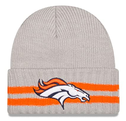 e55ec10fc03 Image Unavailable. Image not available for. Color  New Era Men s 2 Striped  Cuff Denver Broncos Grey Hat ...