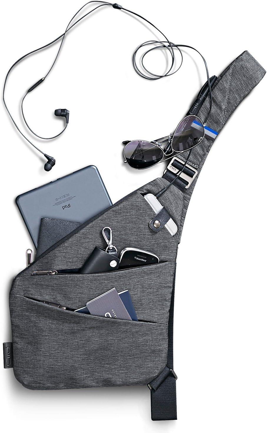 Left Hand NIID FINO Sling Bag Multipurpose Slim Backpack waterproof and Anti-Theft Travel Chest Bag for Men Women