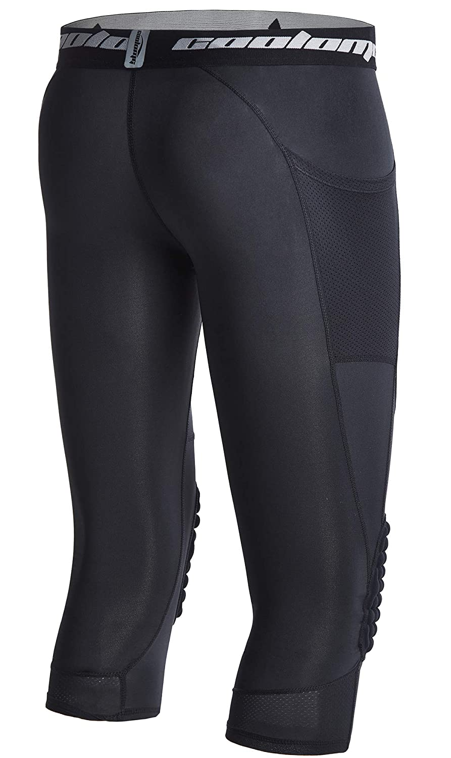 606c66b42c967 Amazon.com : COOLOMG Basketball Pants with Knee Pads for Kids 3/4 Capri  Compression Tights Leggings : Sports & Outdoors