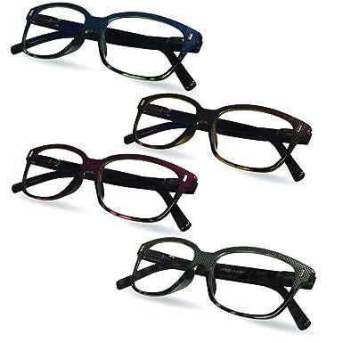 c67615cc2c Amazon.com: Anti Reflective Prescription Computer Glasses, 4 Pack, 1.00 -  Glare and Blue Light Blocking Glasses – Men's and Women's Readers - by Marc  De ...