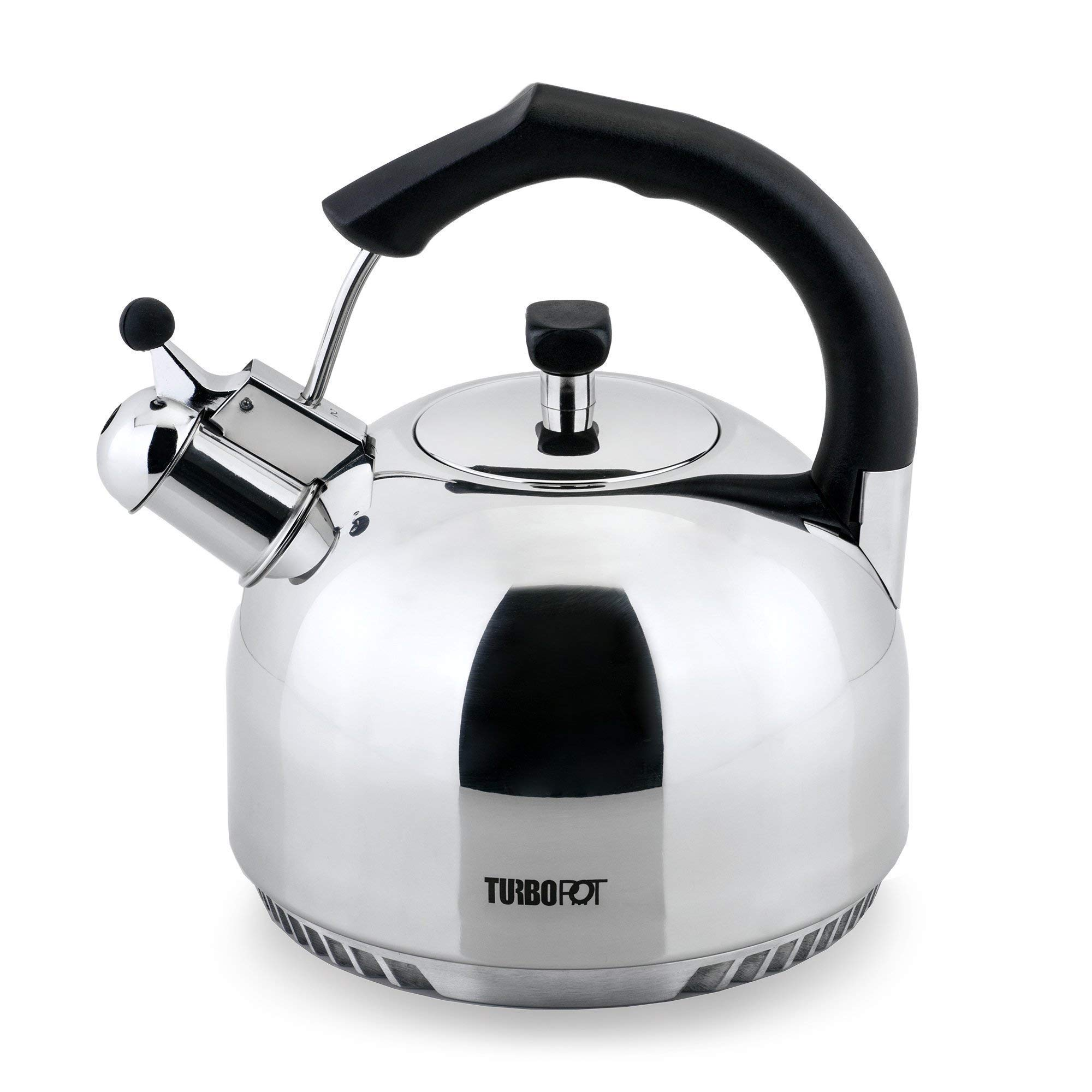 FreshAir Stainless Steel 2.5 Qt. Tea Kettle by Turbo Pot-energy-efficient cookware for gas stove
