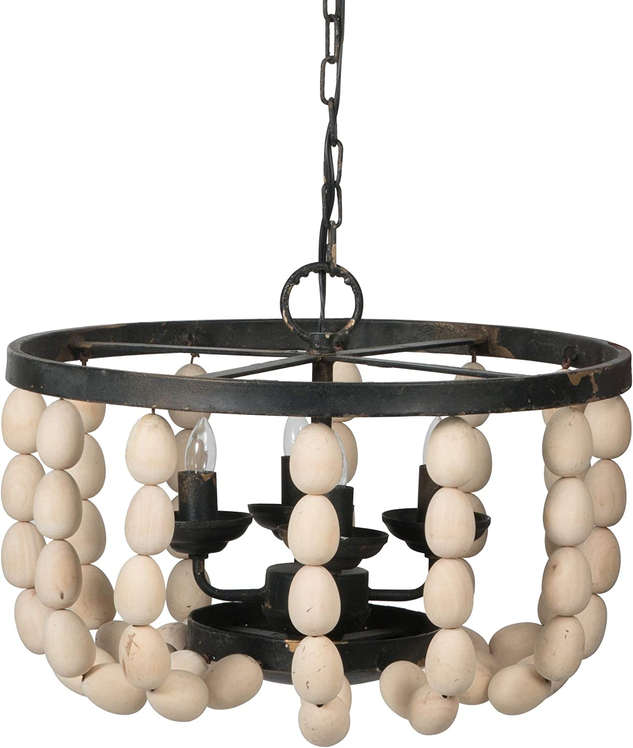 A&B Home Small Beaded 4-Light Chandelier, Dimensions: 18.9L x 18.9W x 13.8H Inches, Multi