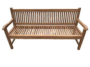 Pleasant Patio Essentials Windsor Solid Teak Garden Bench Seat 1 8M 6Ft 4 Seater Plaque And Bench Engraving Available Option Bench Plaque Caraccident5 Cool Chair Designs And Ideas Caraccident5Info