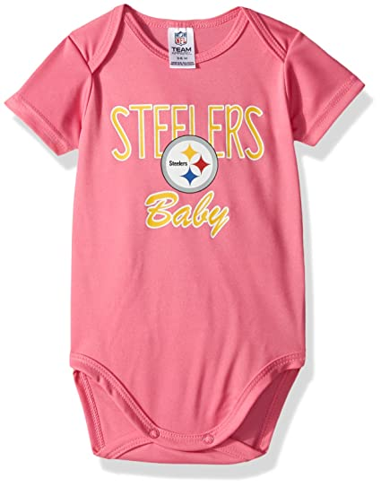 c787622bffa Amazon.com   NFL Pittsburgh Steelers Baby-Girls Short-Sleeve ...