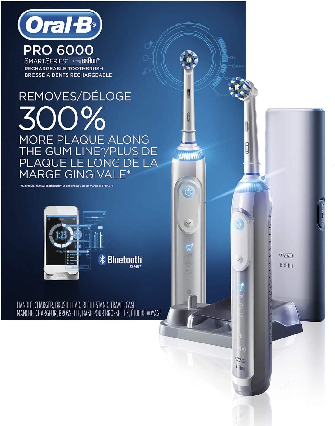 Oral-B Pro 6000 Smart Series Power Rechargeable Electric Toothbrush