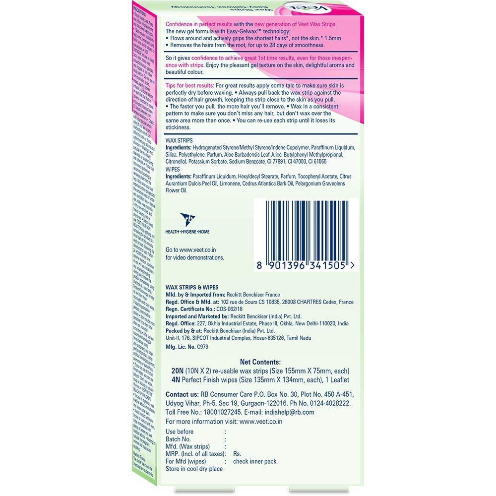 Buy Veet Full Body Waxing Kit Dry Skin 20 Strips Online At Low