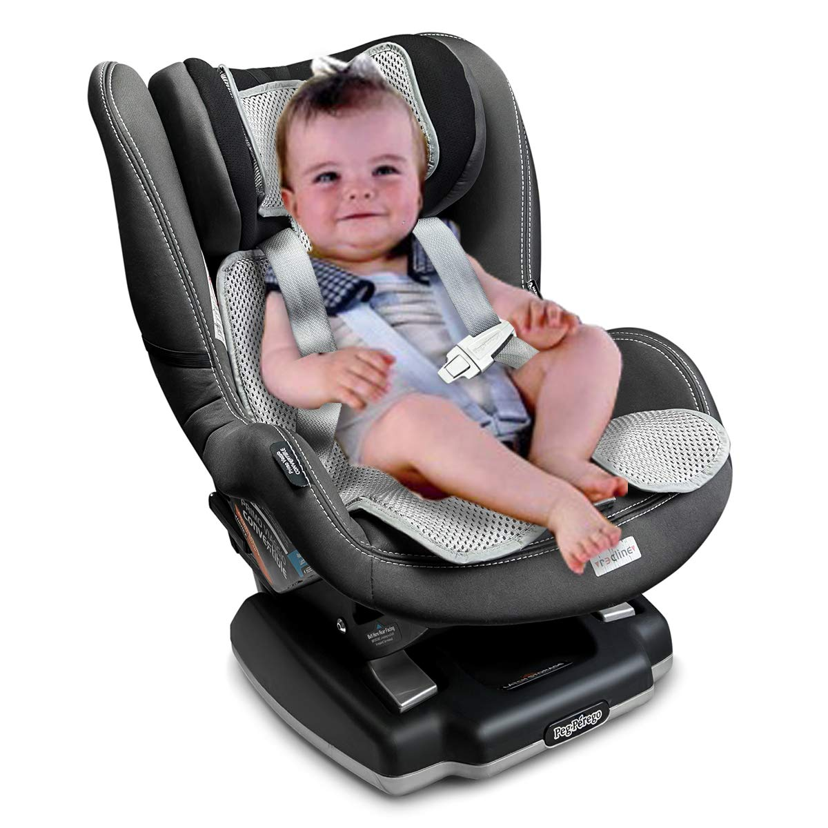 Lebogner 3D Air Mesh Cool Baby Seat Liner for Strollers, Car Seats, Jogger, Bouncer and More, Thick Cushion Seat Pad Protector, Supports Newborns, Infants, and Toddlers, Installs Quick and Easy, Grey by lebogner (Image #6)
